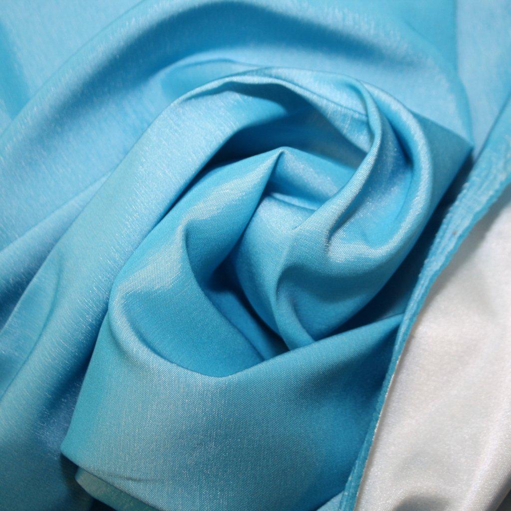Taft oboustranný modrozelený