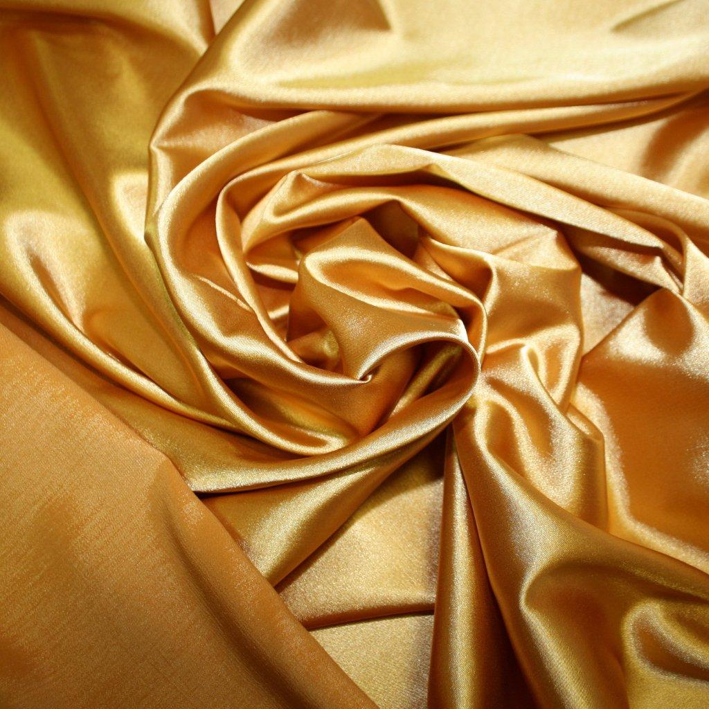 Taft oboustranný zlatý