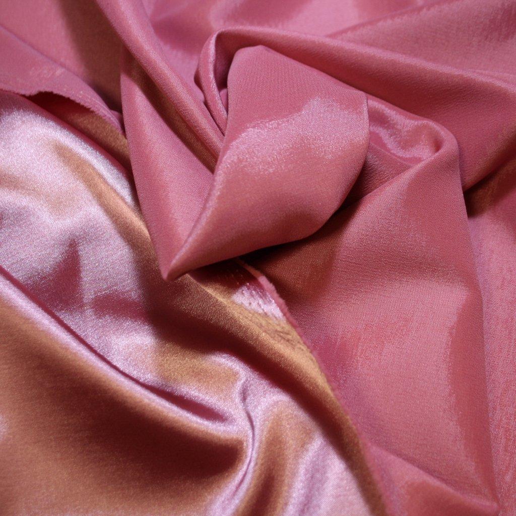 Taft oboustranný tmavě růžový