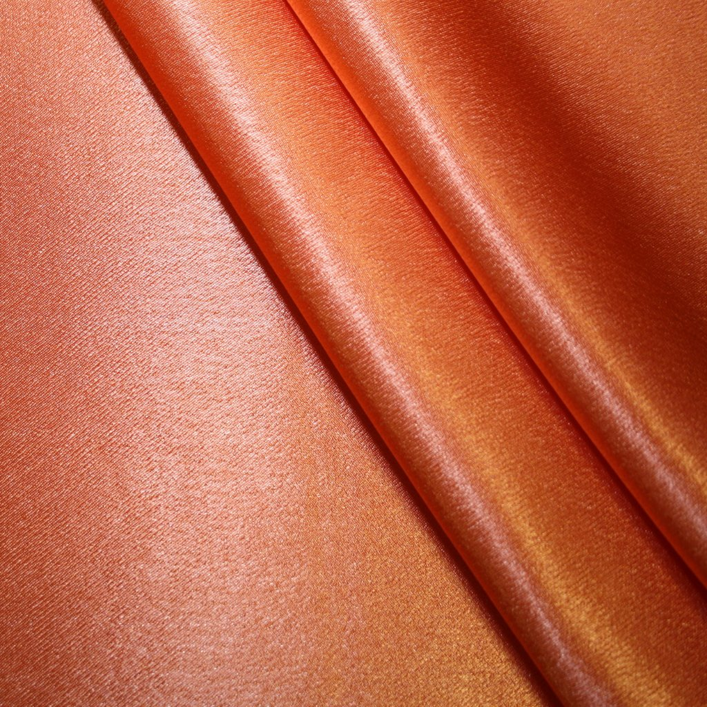 Satén krepový tmavě oranžový