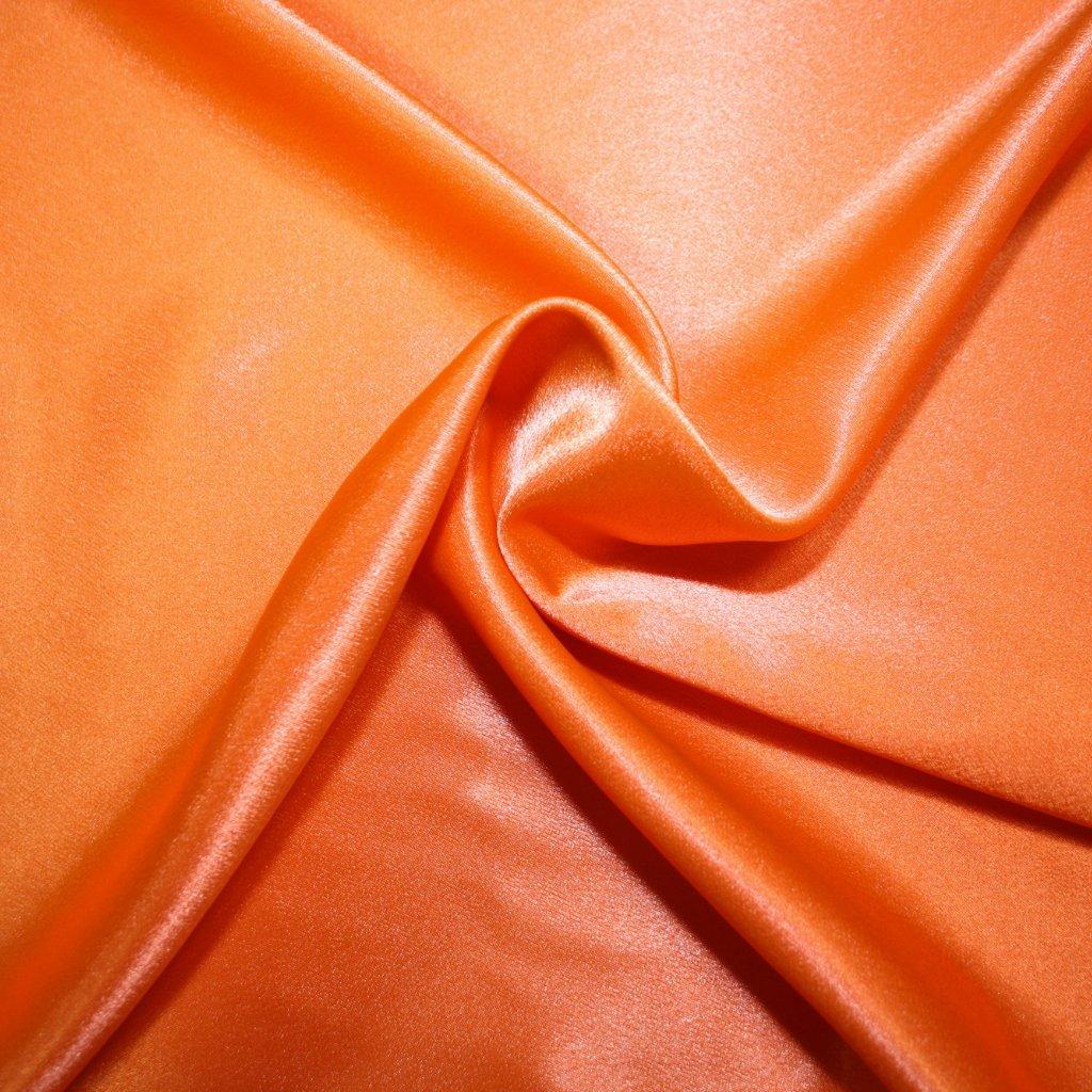Satén krepový oranžový