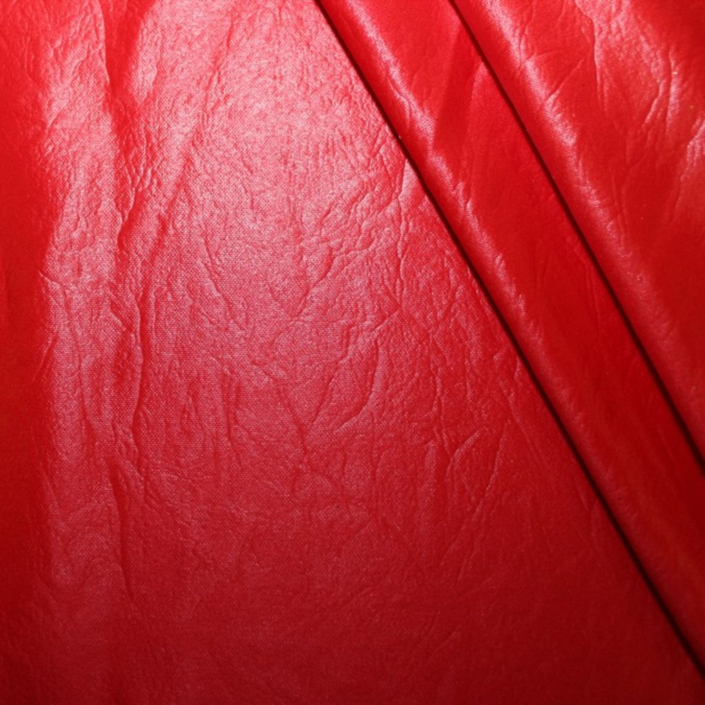 Polyester červený vzhled kůže