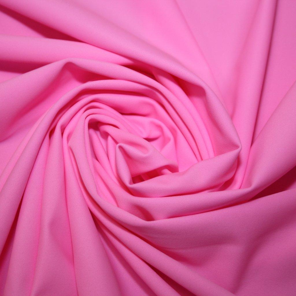 Lycra jednobarevná růžová