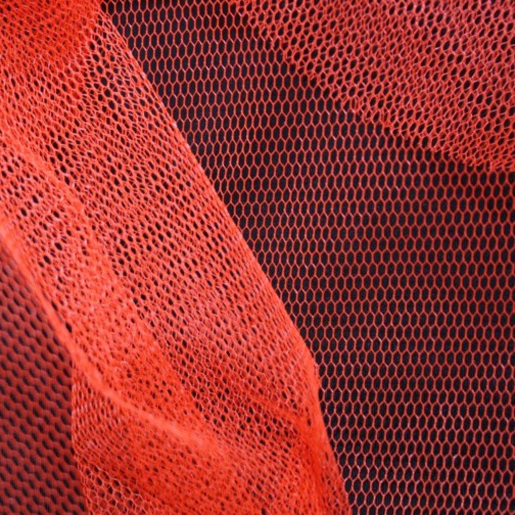 Spodničkový tyl silný tuhý oranžový