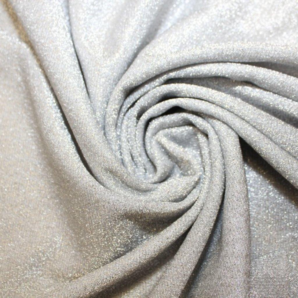 Polyestrová látka stříbrná