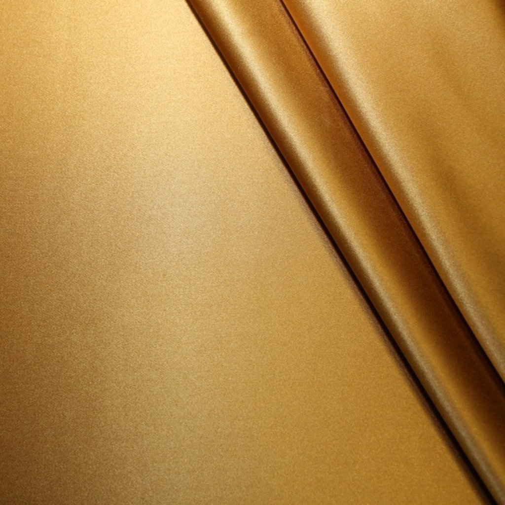 Hedvábí saténové tmavě zlaté