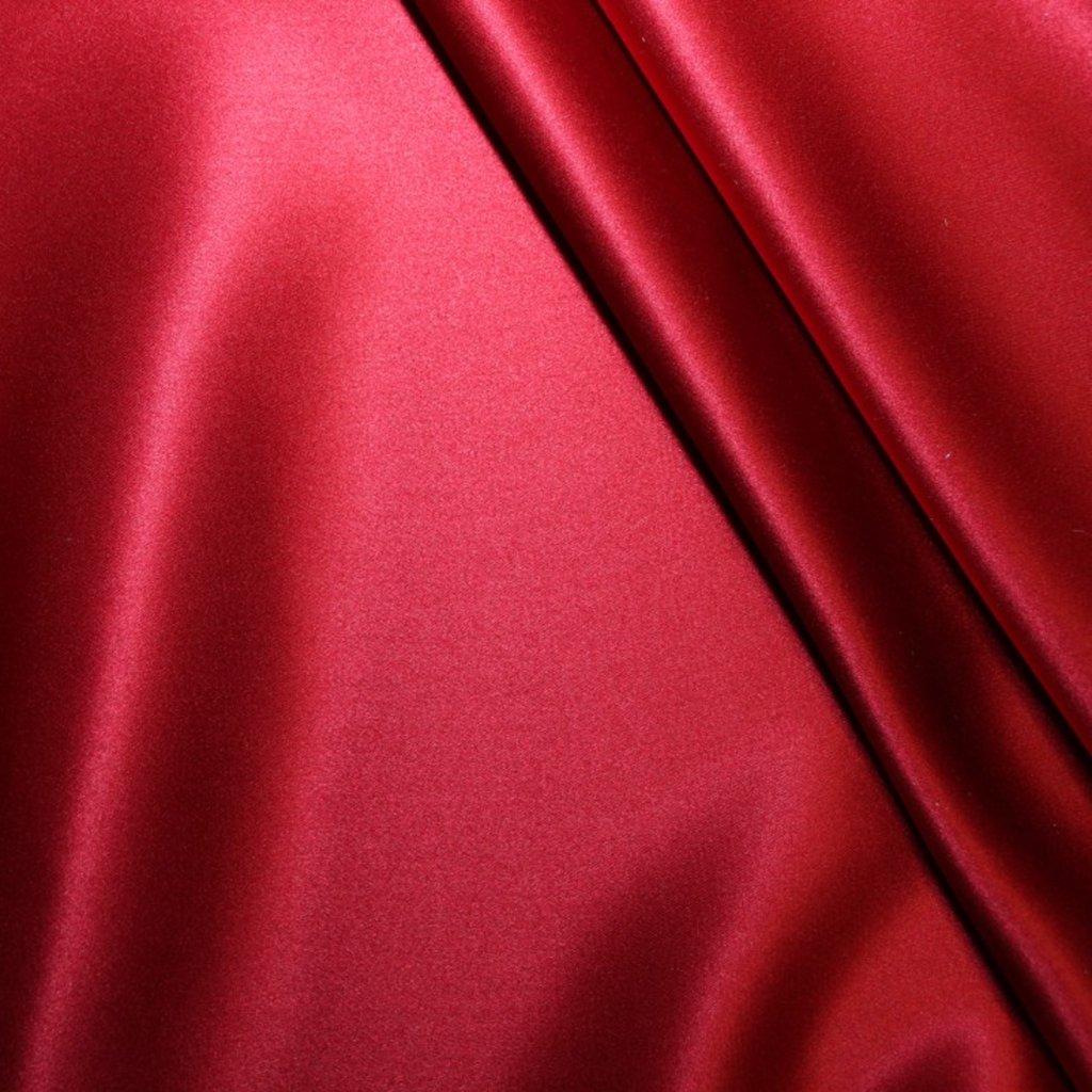 Hedvábí pravé saténové červené