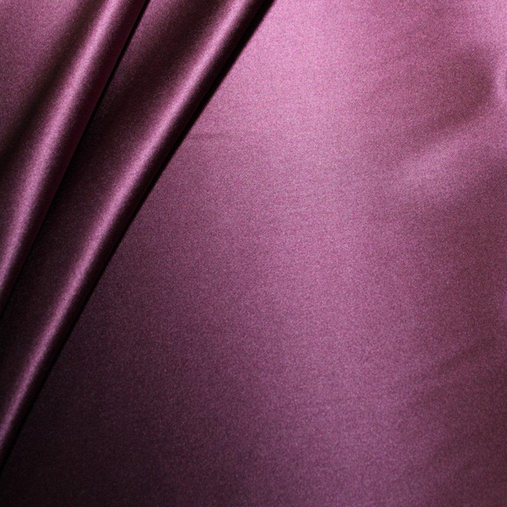 Hedvábí pravé saténové tmavě fialové