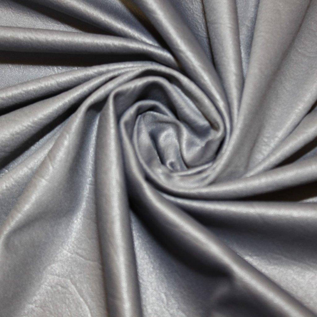 Jemný šedý úplet s povrchem umělé kůže