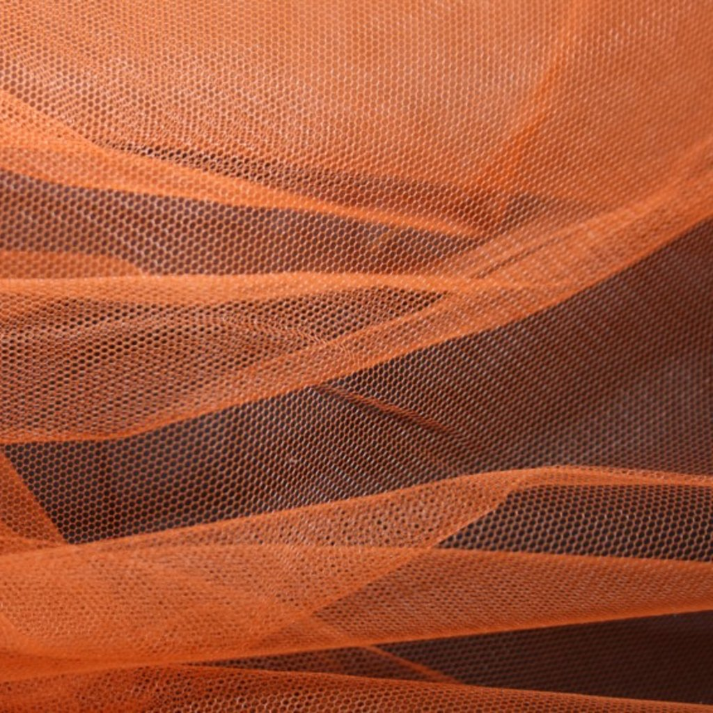 Spodničkový tyl středné silný bez lesku oranžový