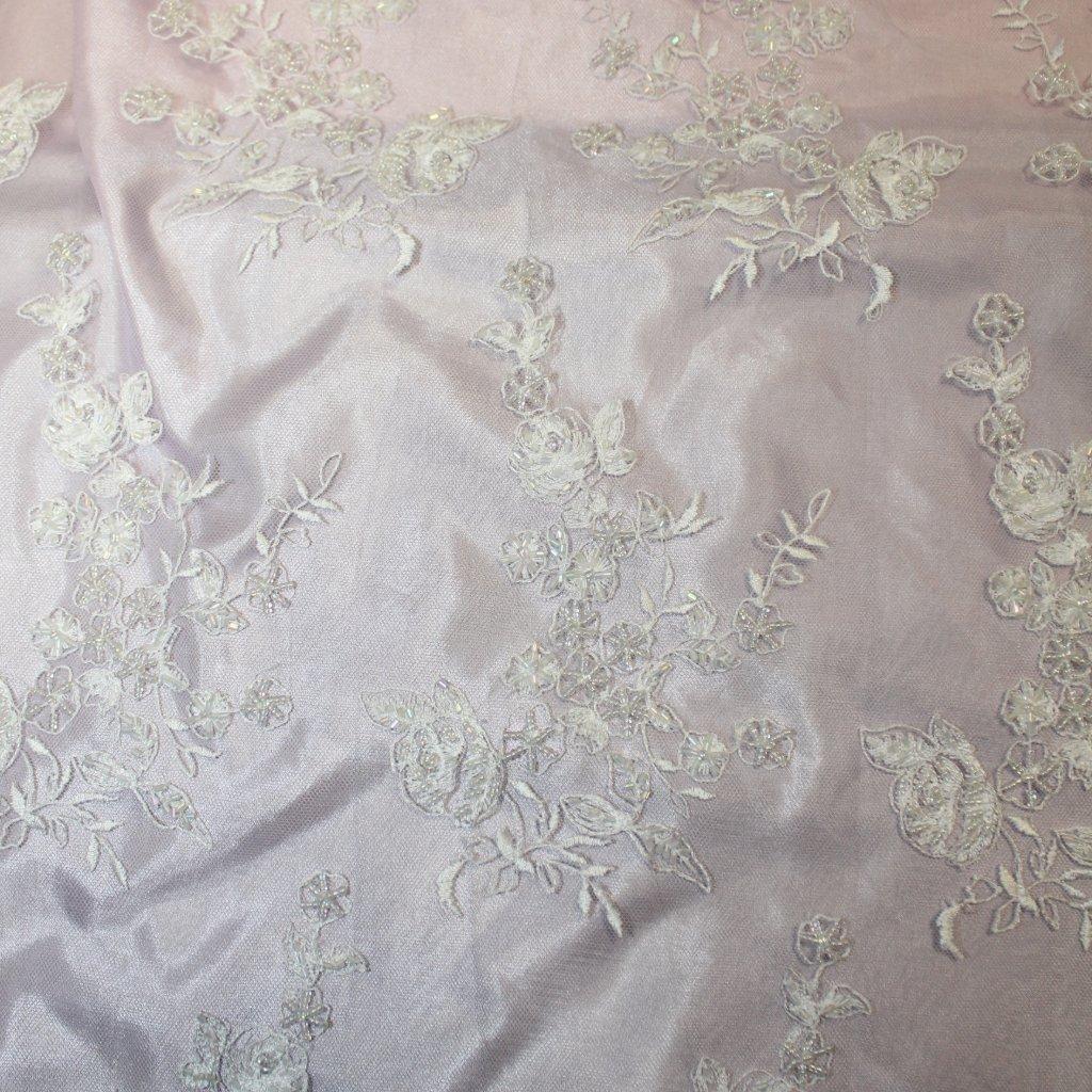 Krajka korálková bílá