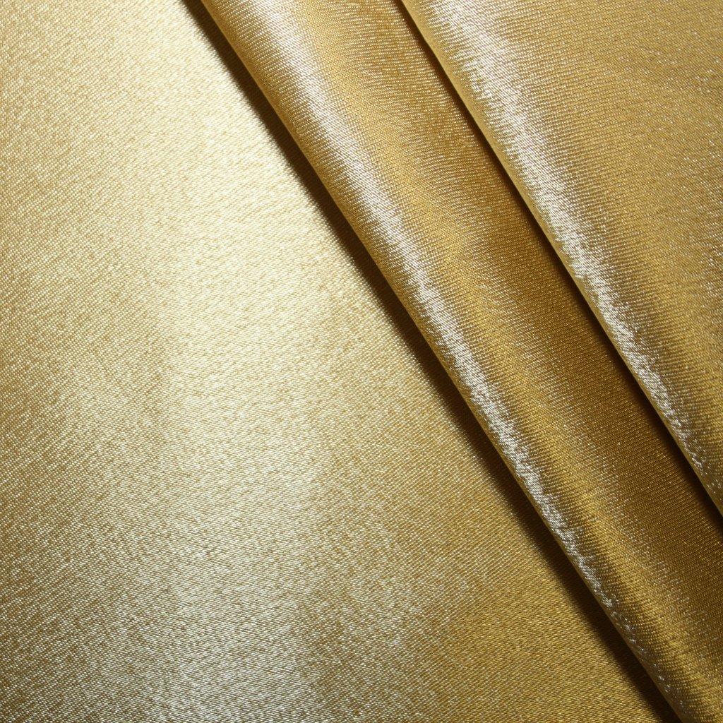 Satén krepový zlatý