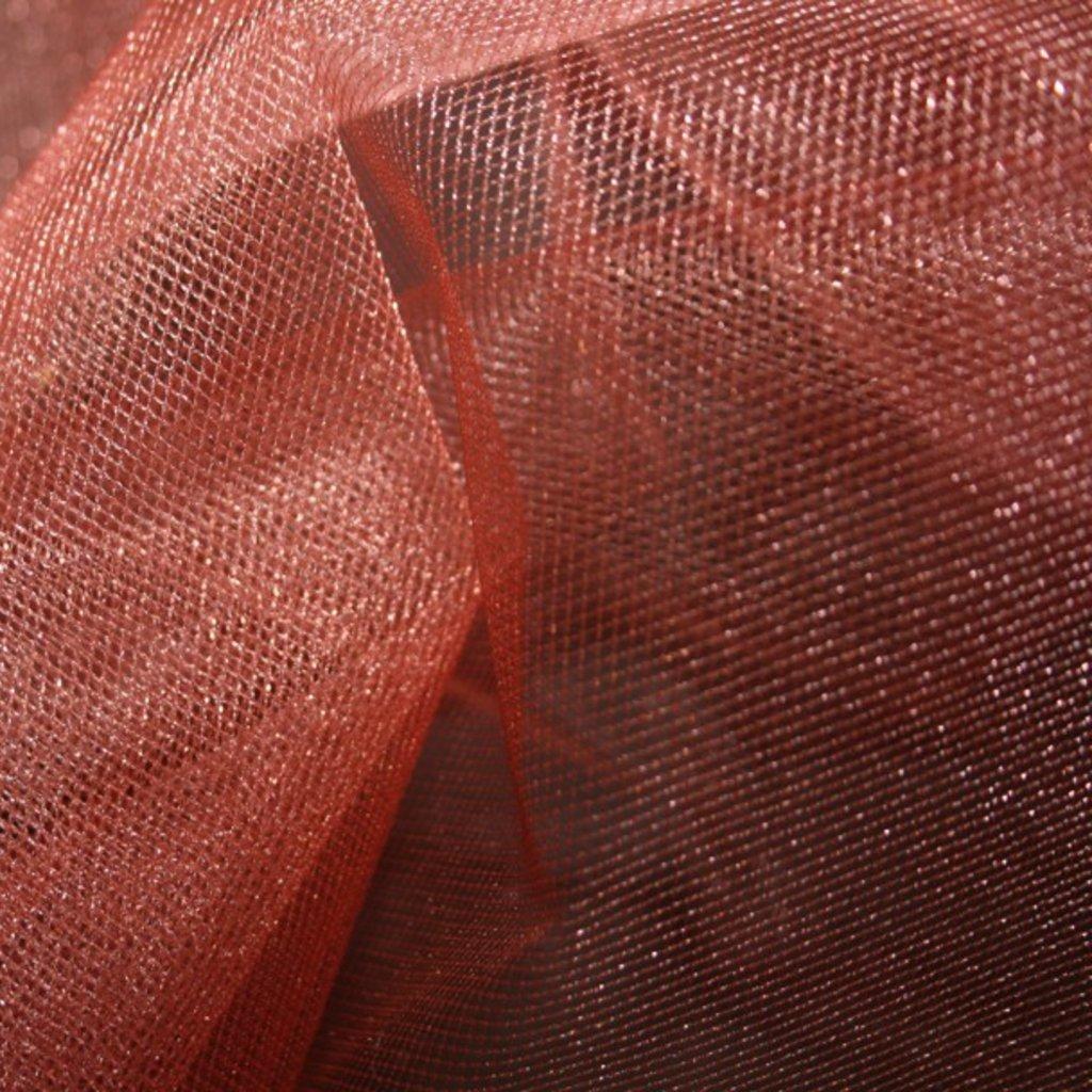 Spodničkový tyl středně silný lesklý světle červený