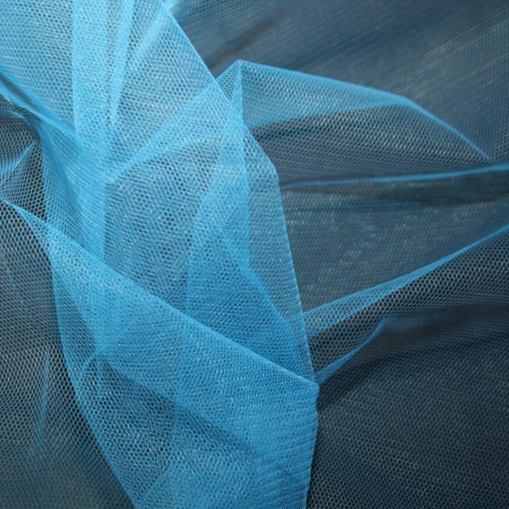 Spodničkový tyl středné silný bez lesku modrý