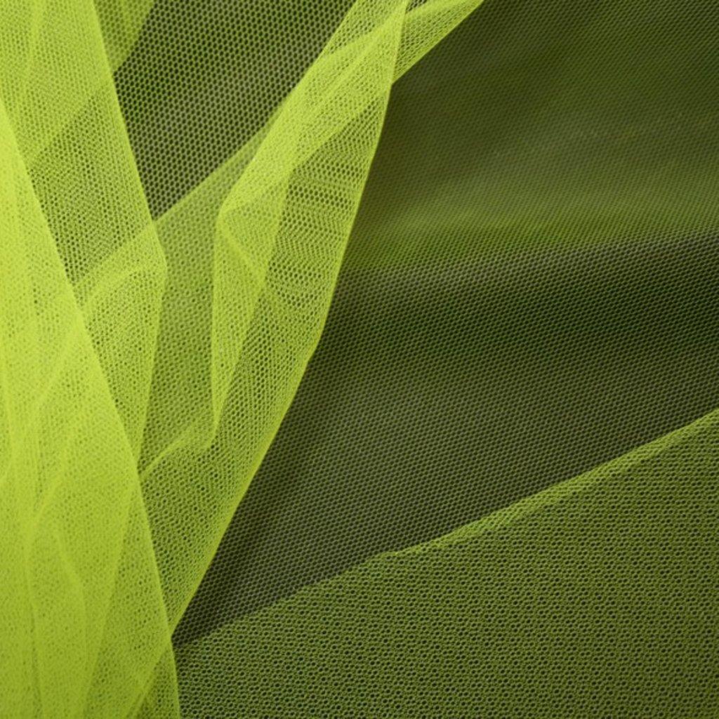 Spodničkový tyl středné silný bez lesku neonově žlutý