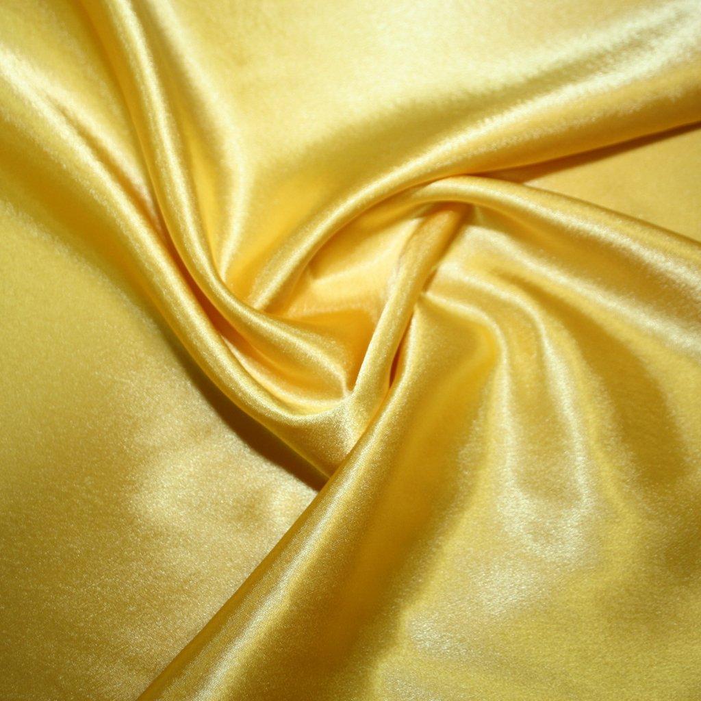 Satén krepový žlutý