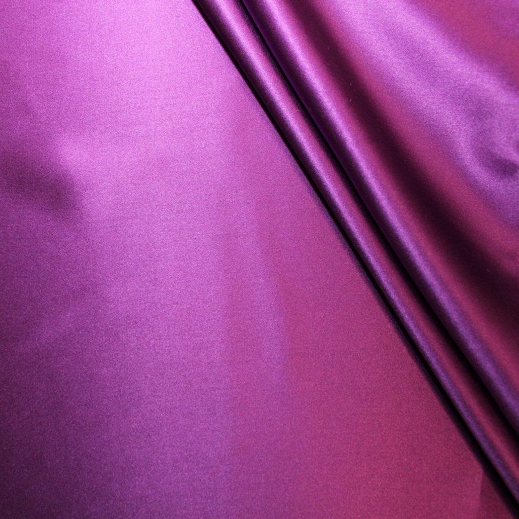 Hedvábí pravé saténové fialové