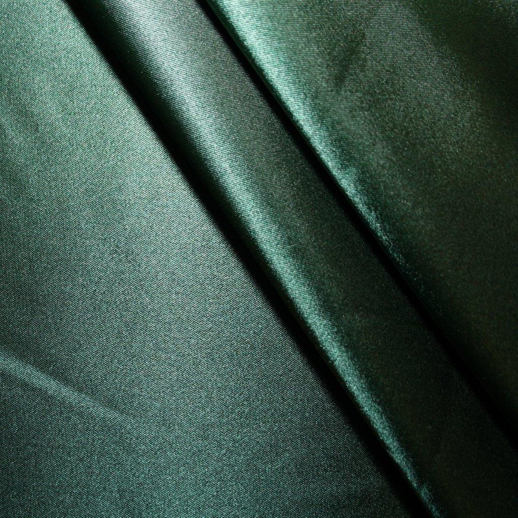 Satén strečový zelený