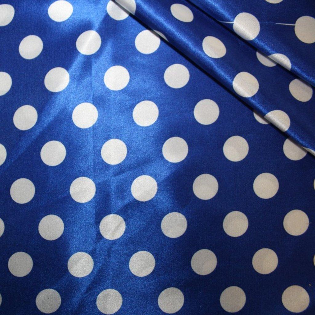 Látka na letní šaty modrá