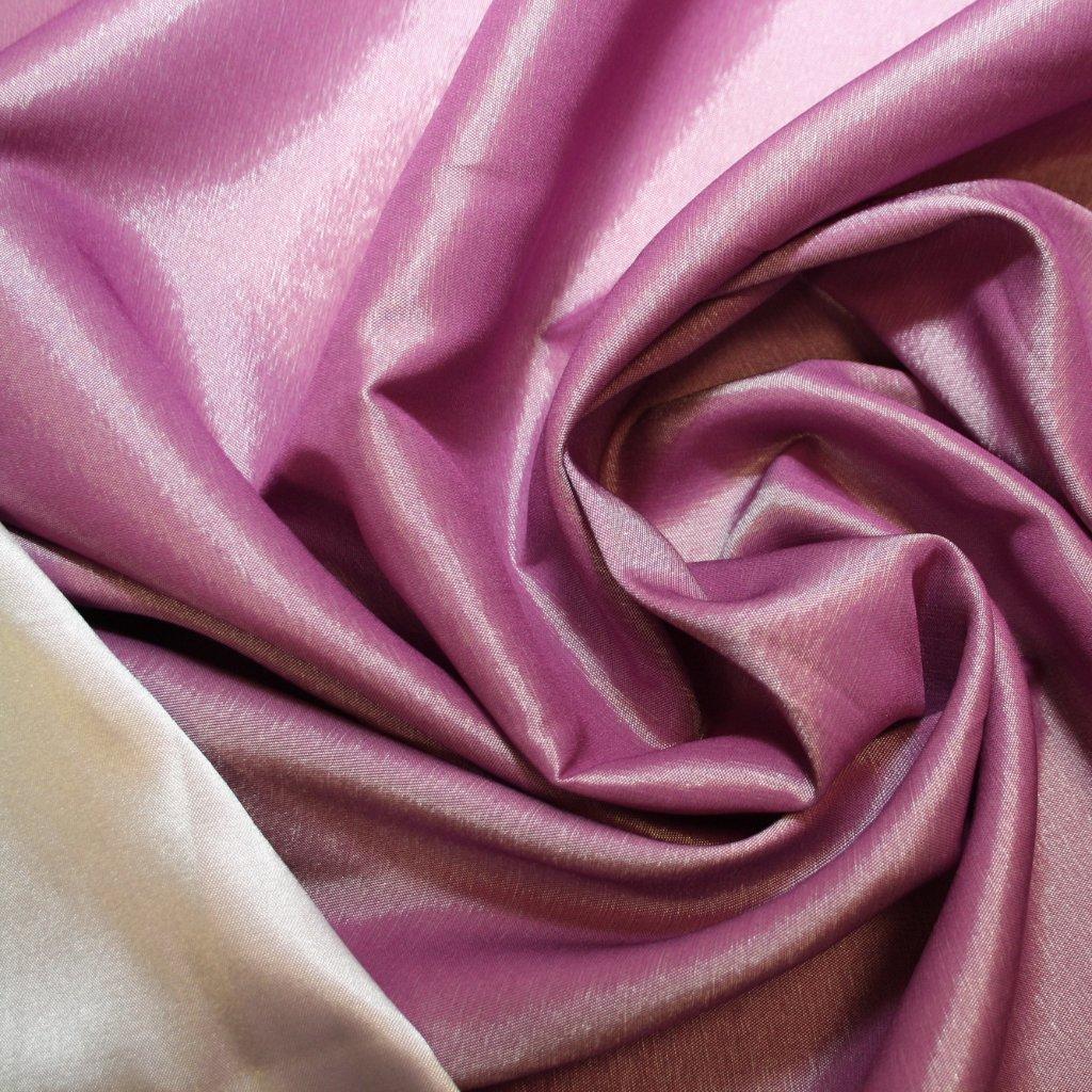 Taft oboustranný strečový fialový