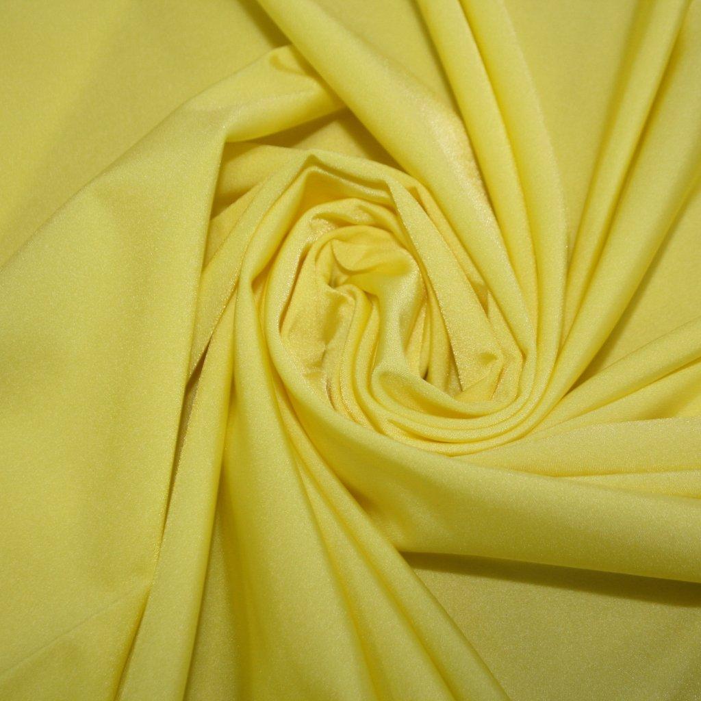 Lycra jednobarevná žlutá