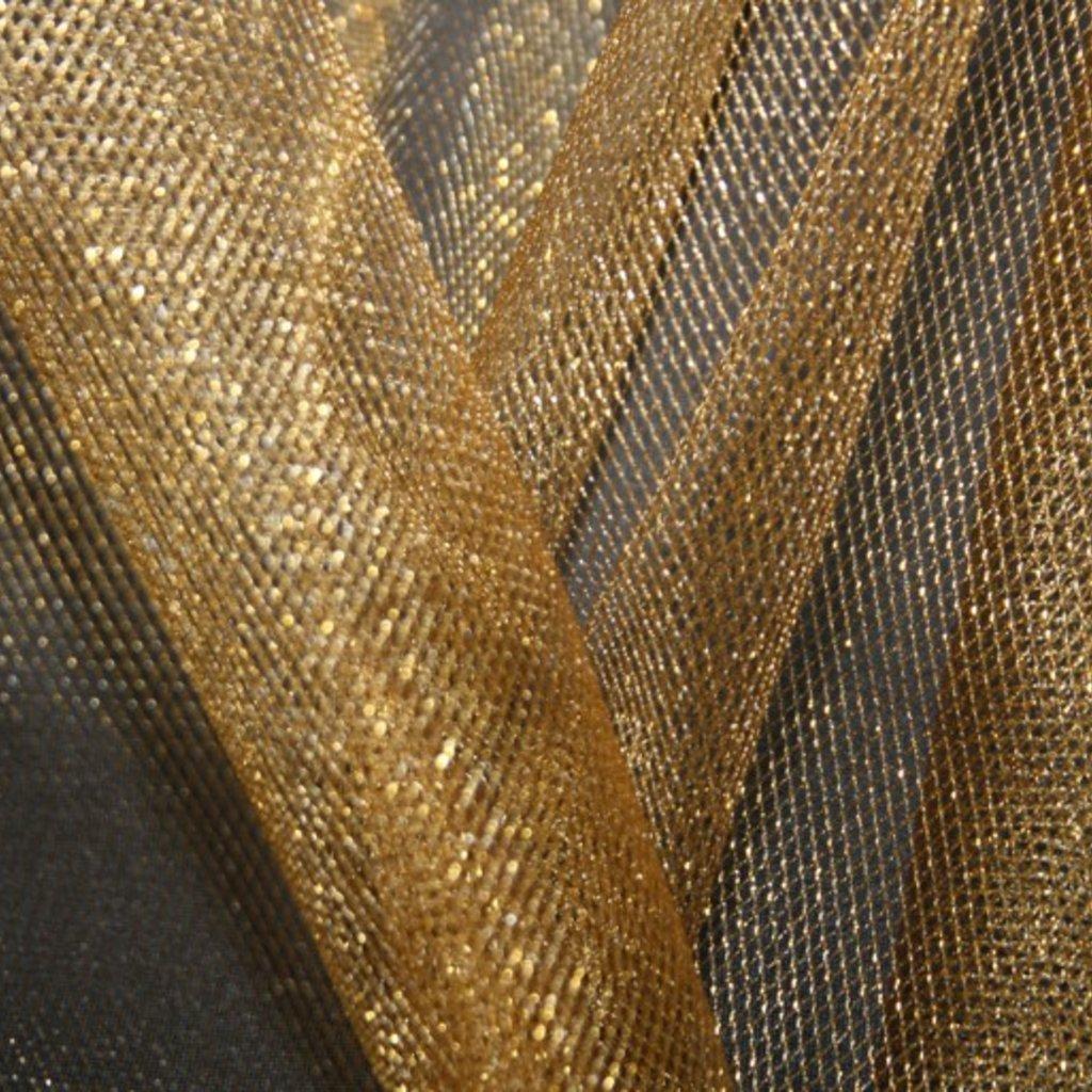 Spodničkový tyl středné silný lesklý zlatý