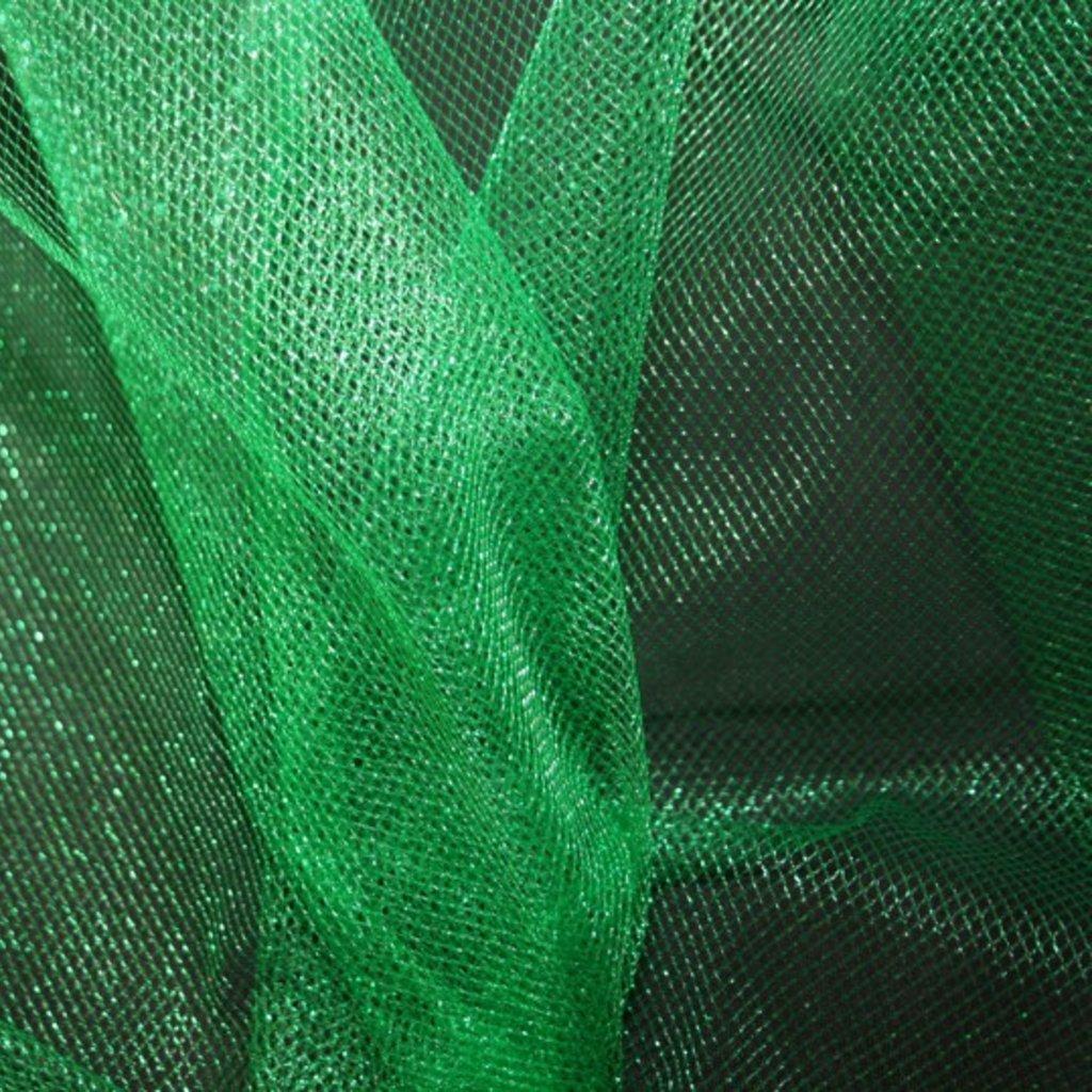 Spodničkový tyl středné silný lesklý zelený
