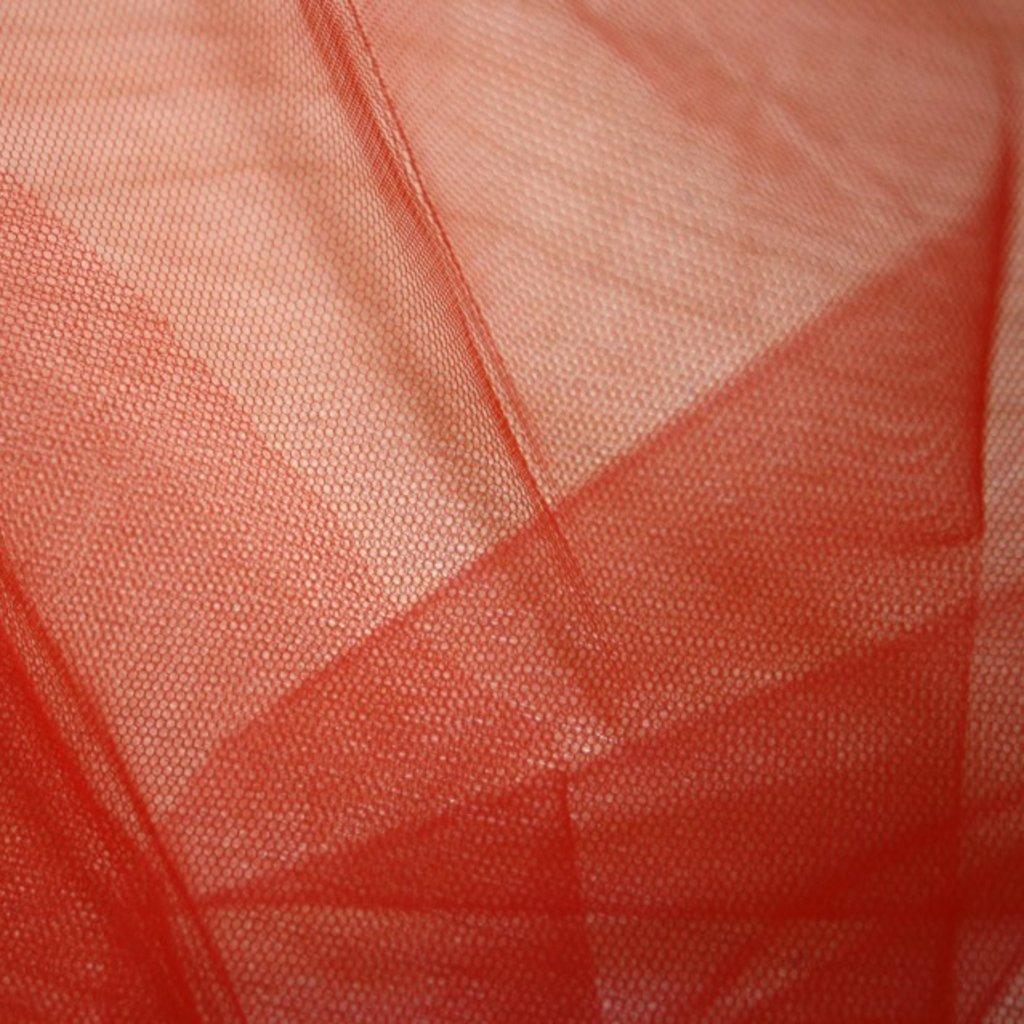 Spodničkový tyl středné silný bez lesku červený