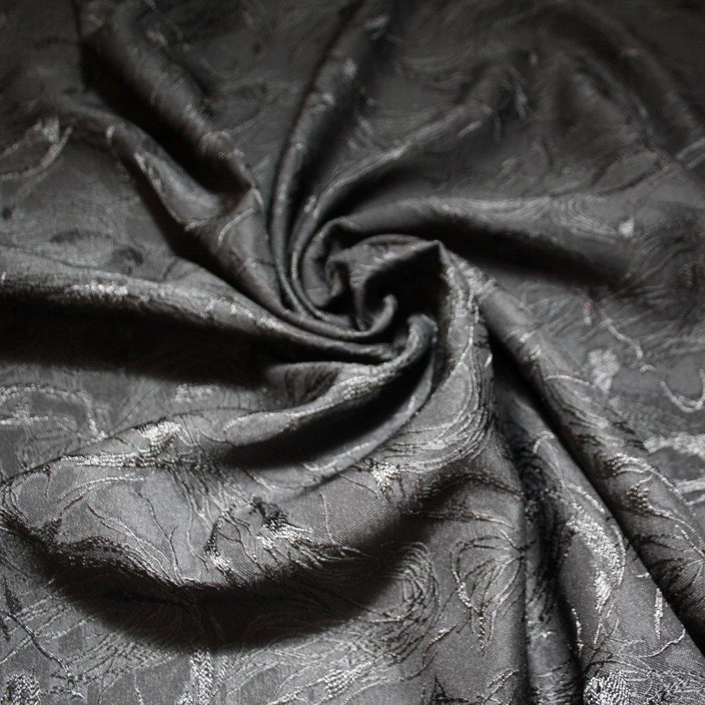 Brokát bez lesku černý