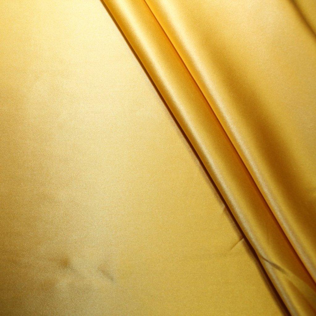 Hevábí pravé saténové zlaté/žluté