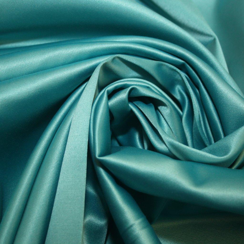 Satén jemný prádlový světle zelený