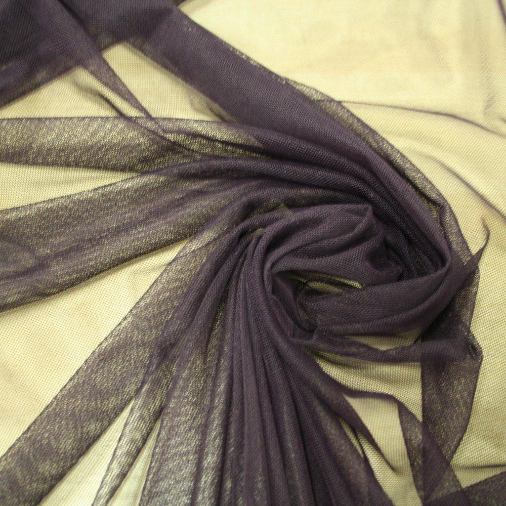 Tyl pružný tmavě fialový