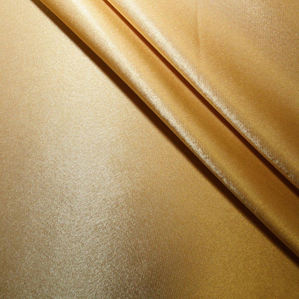 Satén jemný prádlový světle zlatý