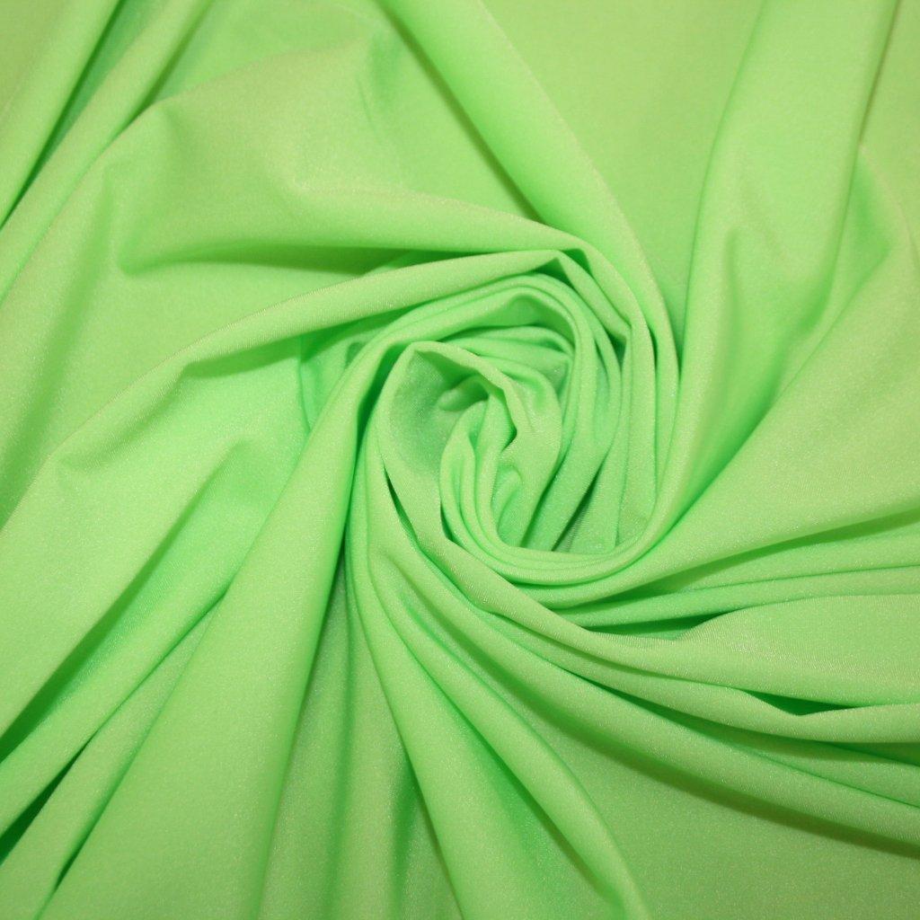 Lycra jednobarevná svítivě zelená