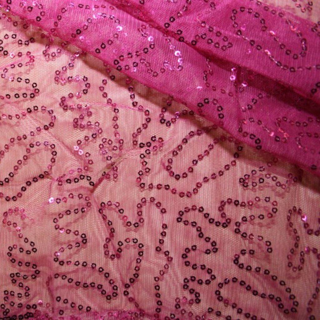 Flitrová látka růžová