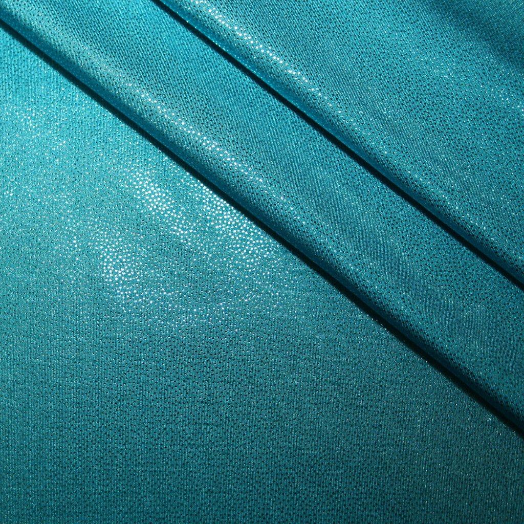 Lycra s lesklou úpravou zelenomodrá