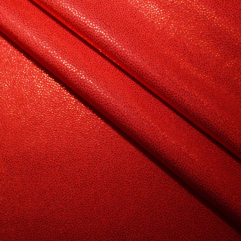 Lycra s lesklou úpravou červená