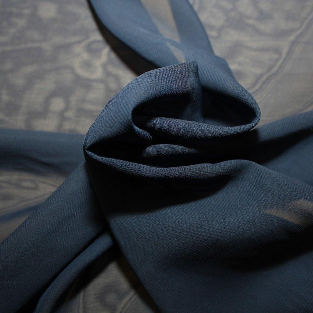 Šifon tmavě modrý