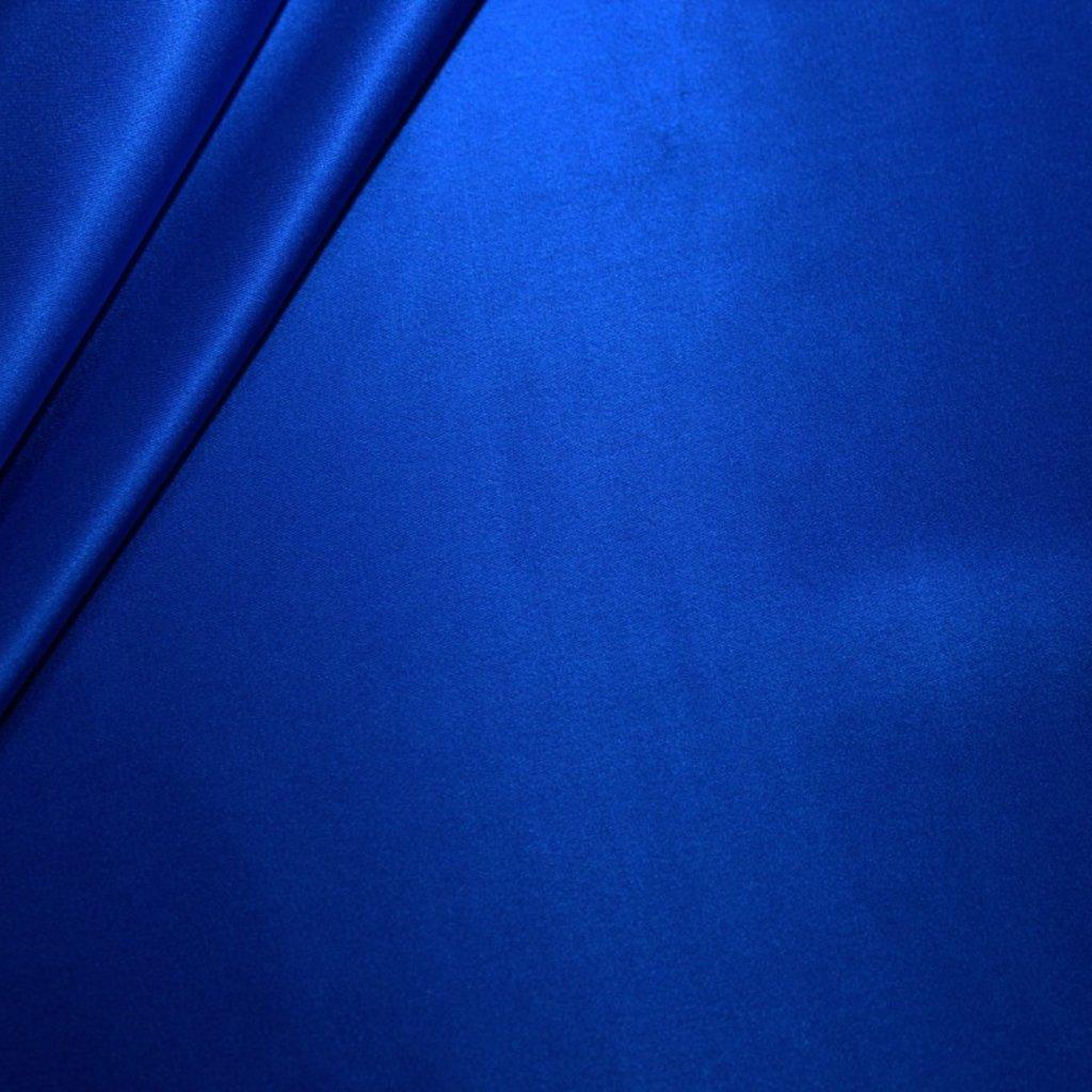 Hedvábí pravé saténové modré