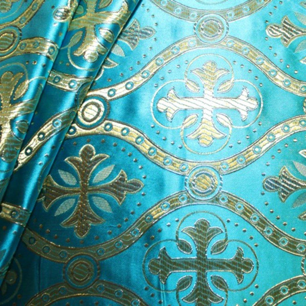 Brokát modrý