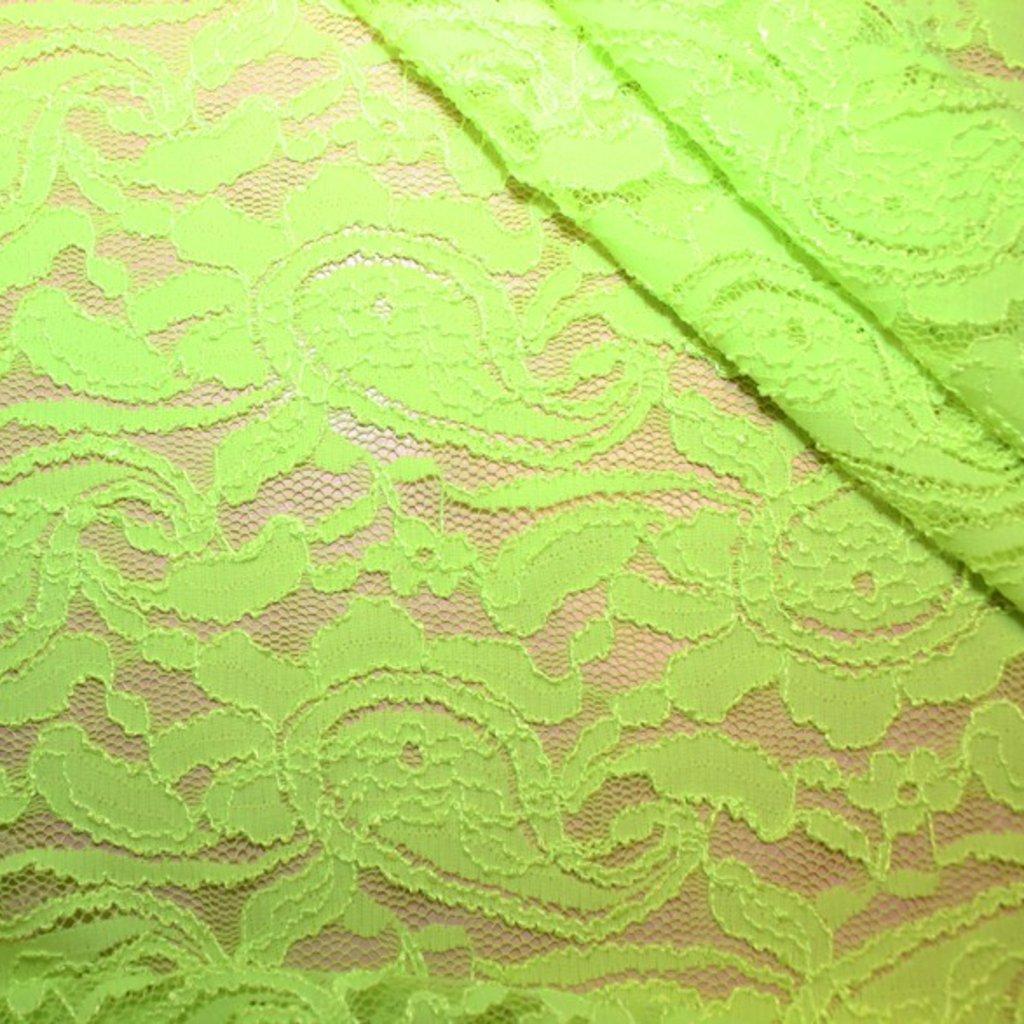 Krajka svítivě zelená