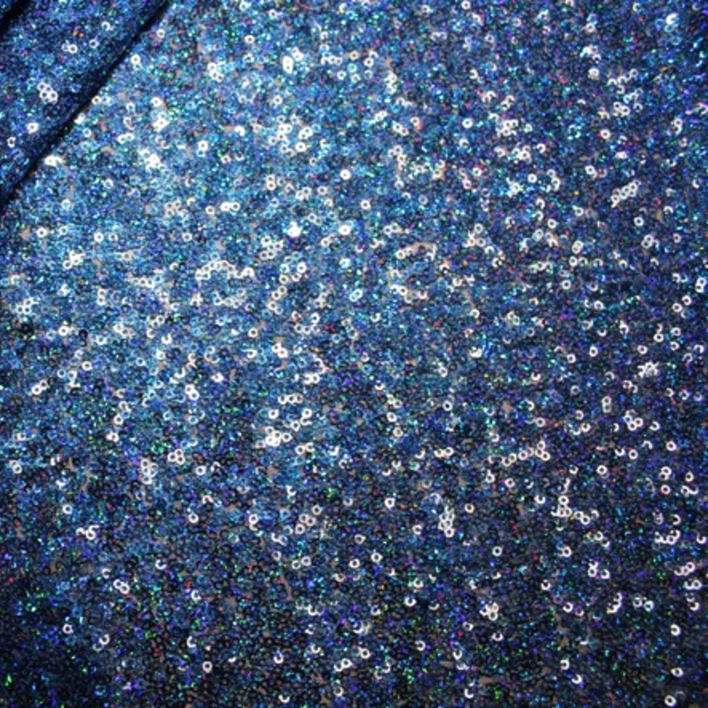 Flitrová látka modrá s hologramem