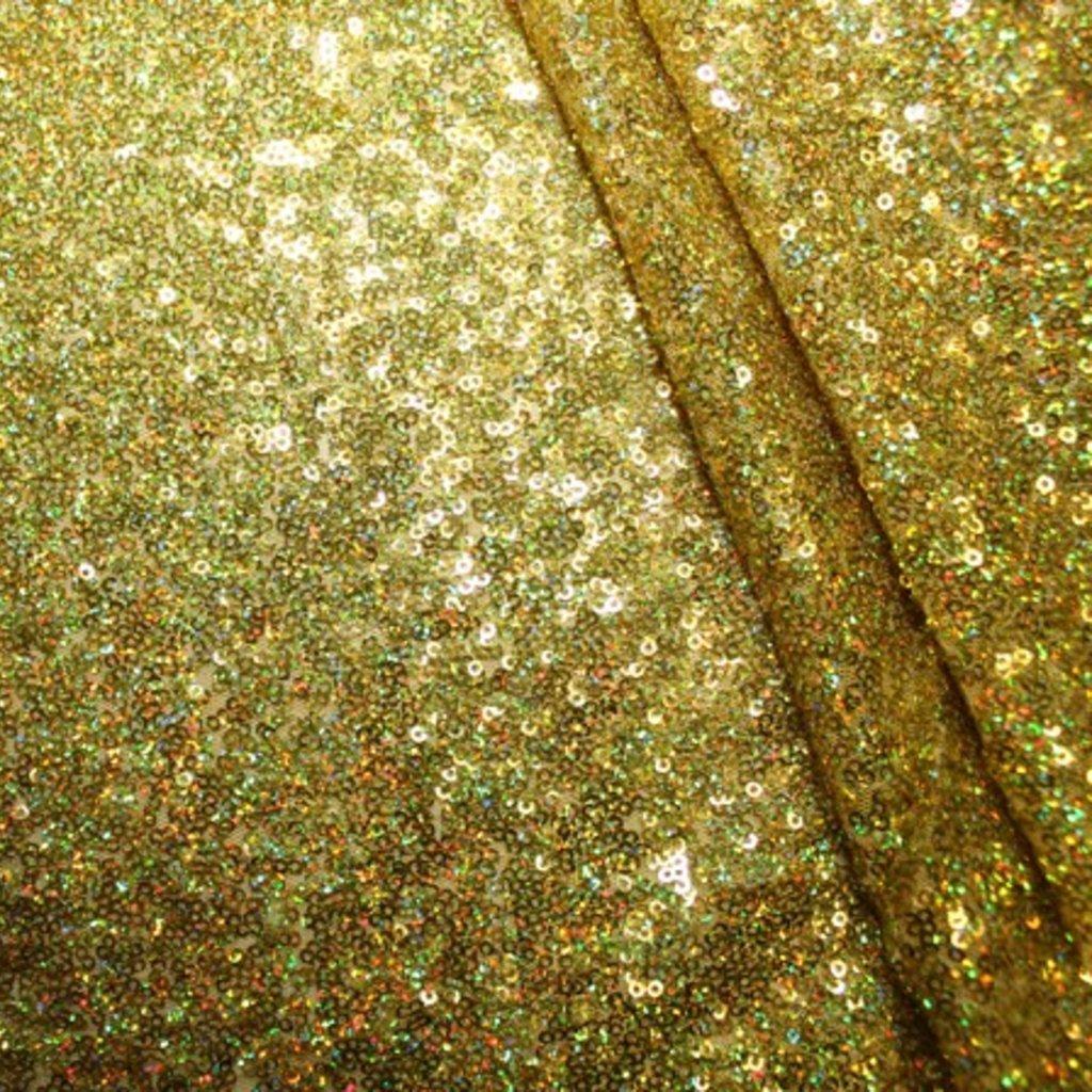 Flitrová látka zlatá s hologramem