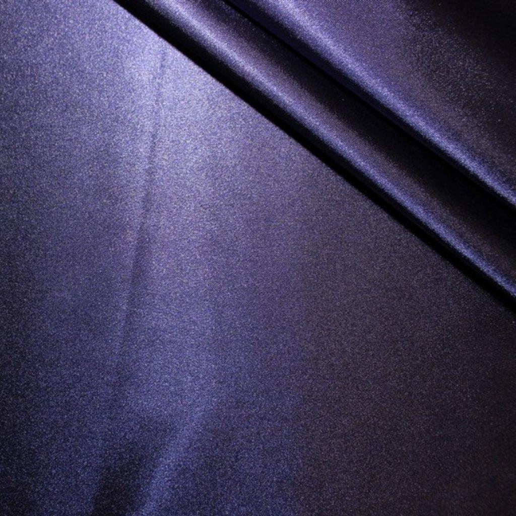 Satén modrý