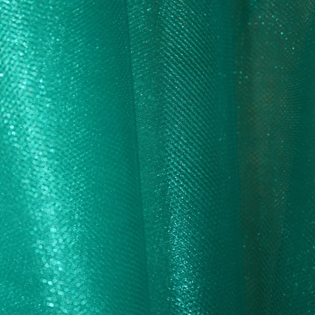 Tyl modrozelený třpytivý