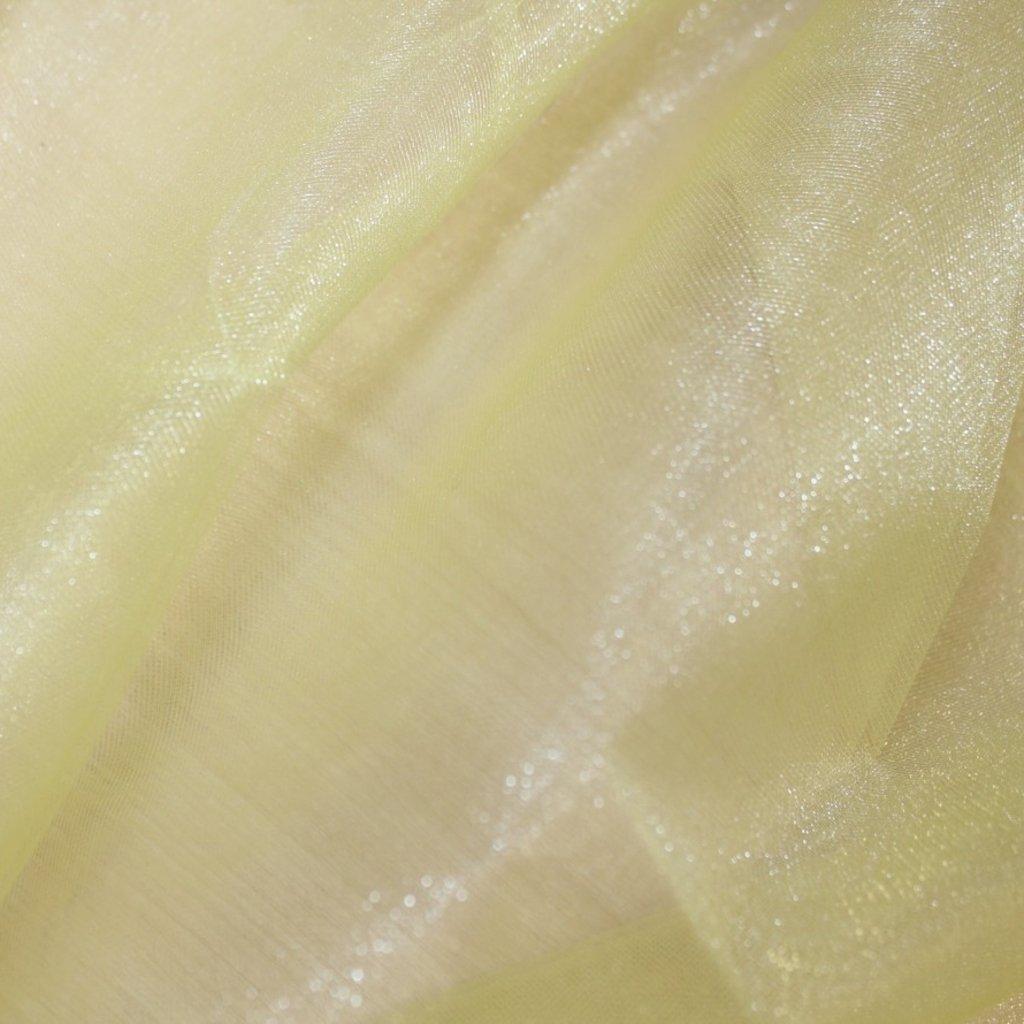 Tyl žlutý třpytivý