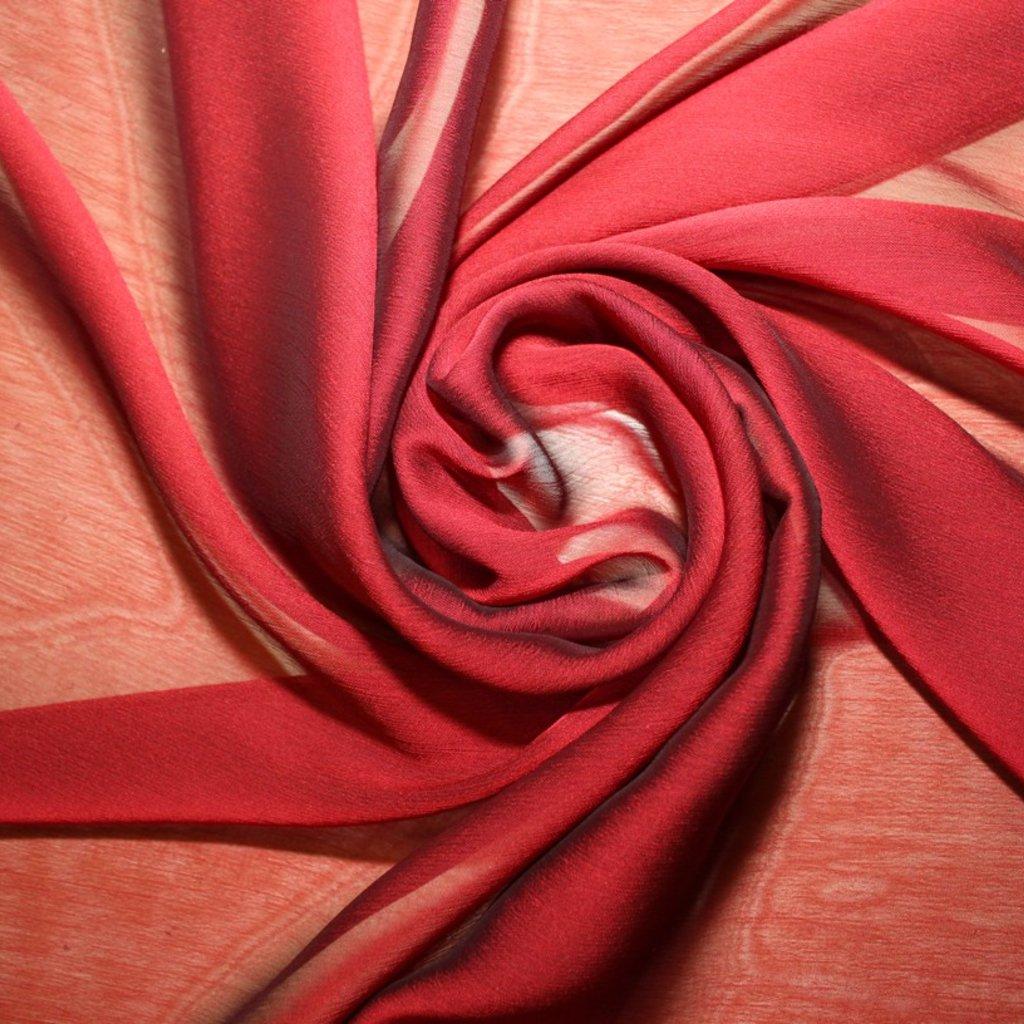 Šifon červený