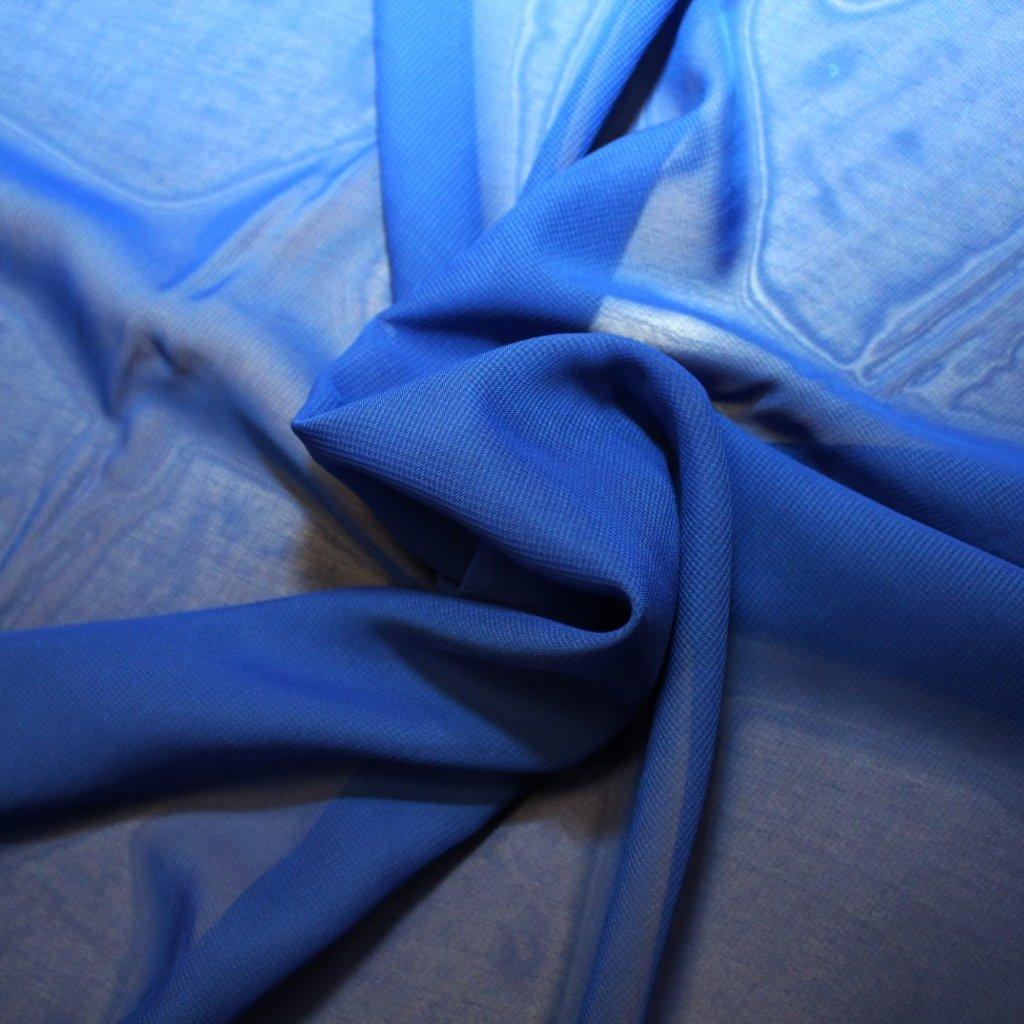 Šifon modrý
