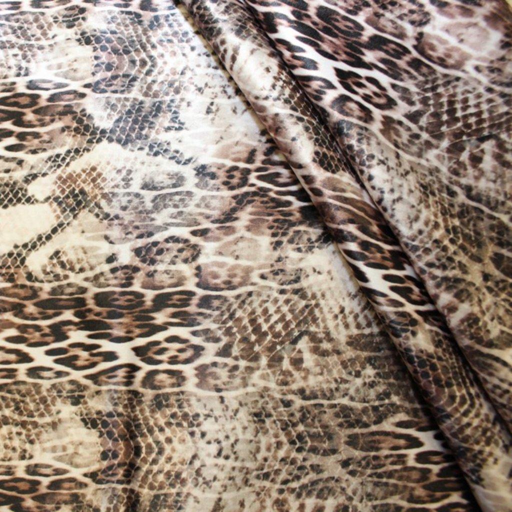 Bavlna s potiskem béžová