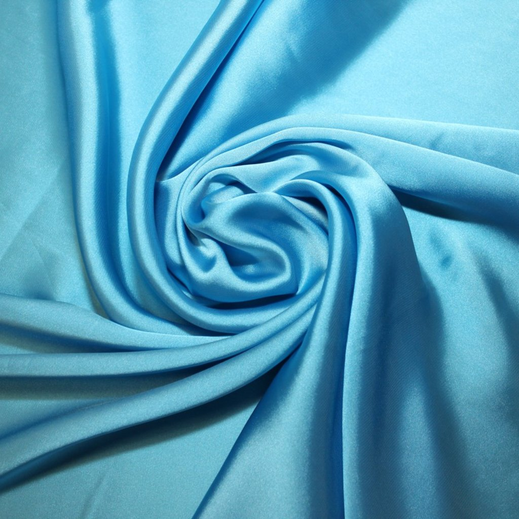 Satén jemný prádlový světle modrý